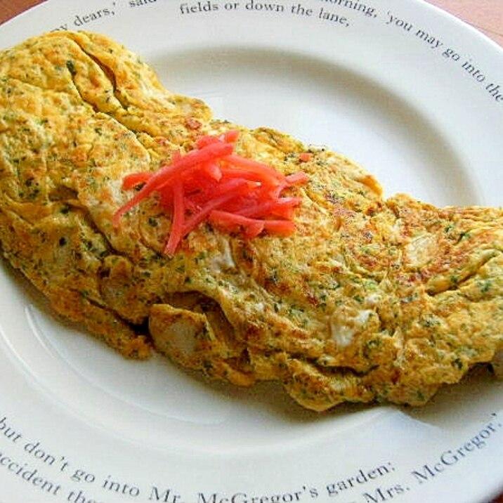 お魚食べてネ❤はんぺん入り卵焼き♪(味付けは塩麹)