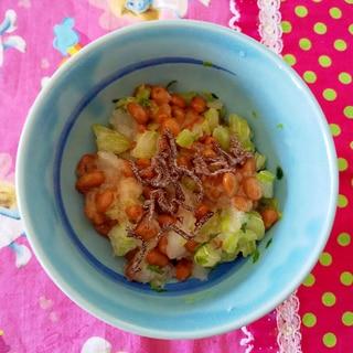 塩昆布と納豆