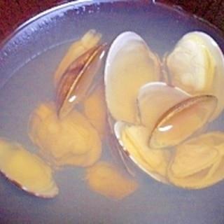 牡蠣だし醤油で!  「簡単アサリのお吸い物」