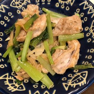 ご飯がすすむ♪豚肉と小松菜のからしマヨソテー^_^