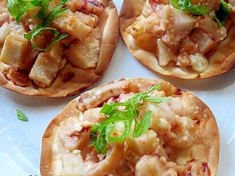 ヤミツキ★塩辛&クリチのホクカリッピザ