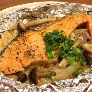 フライパンで簡単!鮭のホイル焼き