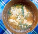 卵とネギの味噌汁