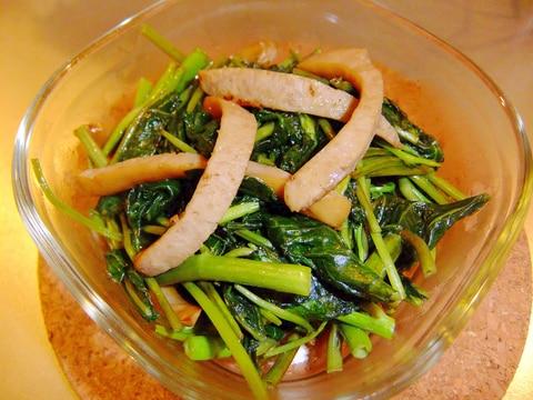栄養たっぷり♪空芯菜とウィンナーのナンプラ炒め