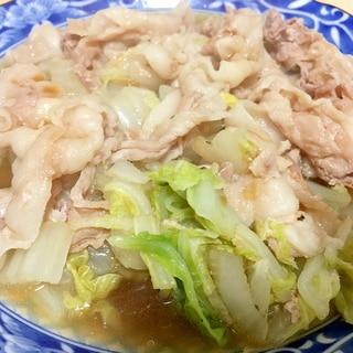 白菜と豚肉のうまうま煮!ポン酢で簡単