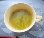 大根と豆苗のコンソメスープ