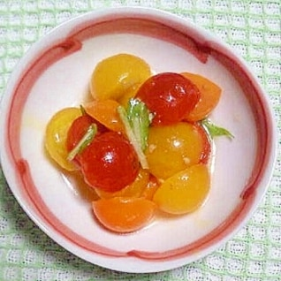 超簡単!トマトdeオリーブオイル