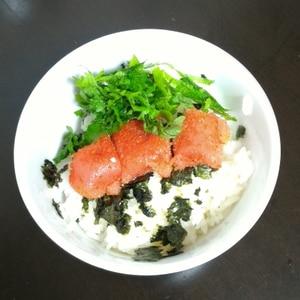 ★明太バター醤油ごはん★