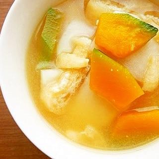 かぼちゃ・かぶの味噌汁♪