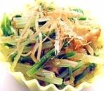 水菜のワサビおかか和え✿お弁当おかず