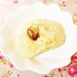 栗の渋皮煮のっけ♪薄力粉&御飯で作る手作り塩パン