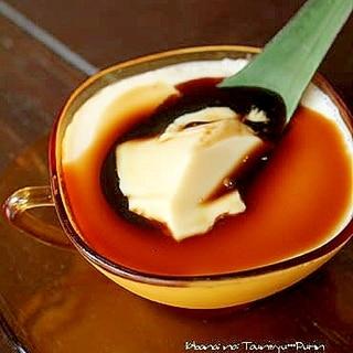 豆乳プリン*黒蜜がけ