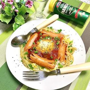 子供も喜ぶ♬ トマトとツナの★カニさんパスタ