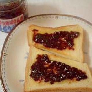 ぶどうジャムトースト