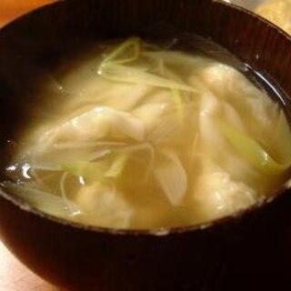 焼売の皮でワンタンスープ
