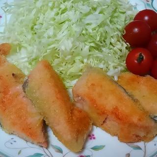 オリーブオイル少な目で☆揚げ焼き鮭フライ◇