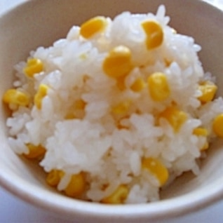 塩麹コーンバターご飯