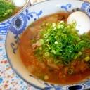 ひき肉と白菜のとろみラーメン