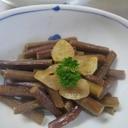 蕨のガリバタ風・ワラビのバターニンニク炒め