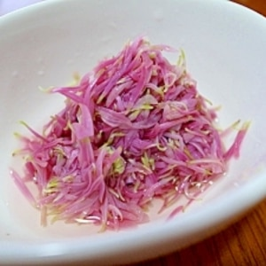 食用菊の酢の物♪