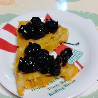 かぼちゃのパンケーキ、ブルーベリーソース