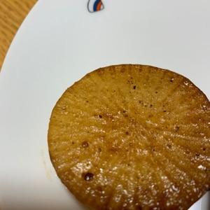 ガーリックソースバター風味の大根ステーキ