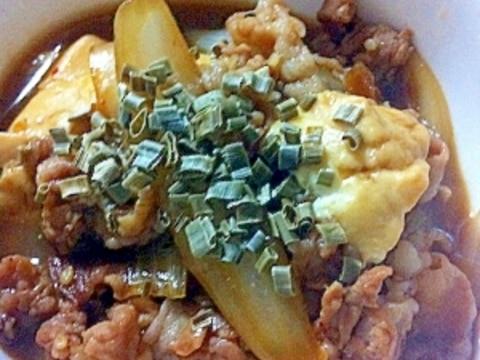 簡単!焼き肉のたれで肉豆腐