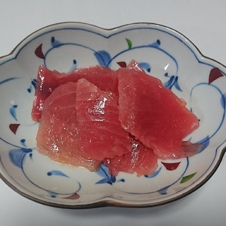 赤身マグロがトロの味に近づく刺身