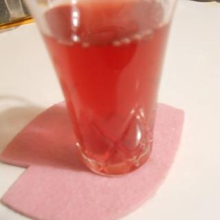 我流 赤紫蘇と氷砂糖で紫蘇ジュース♪