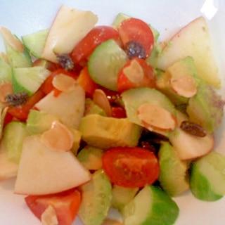 レーズンとアボカドのサラダ