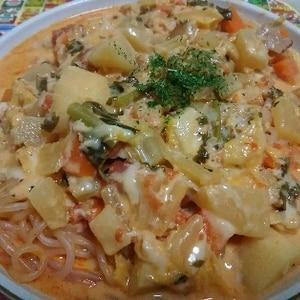 白滝トマトパスタ Shirataki pasta