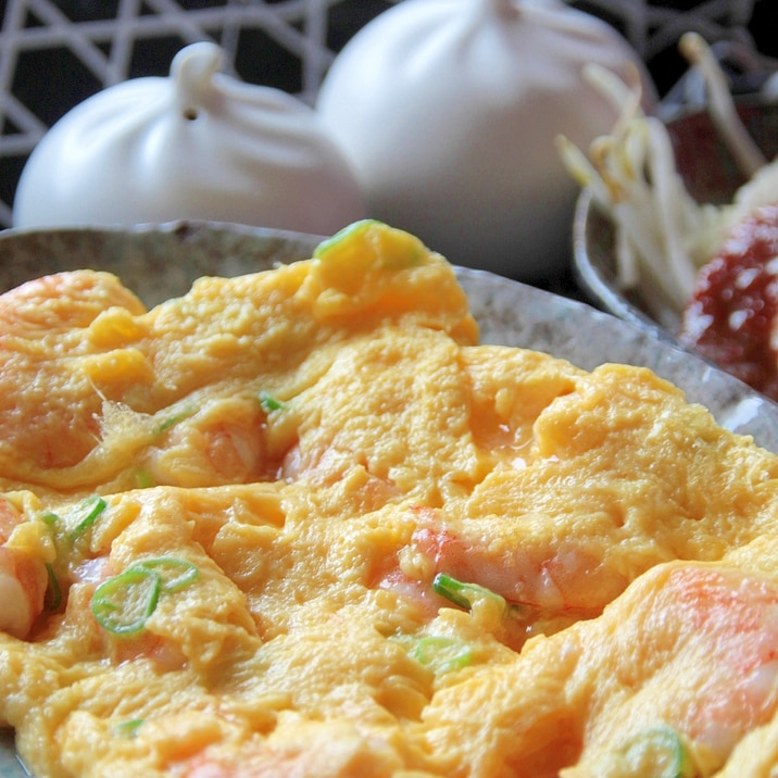 台湾の熱炒料理『滑蛋蝦仁』