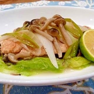 ホイル焼き風☆簡単美味しい☆鮭の蒸し焼き