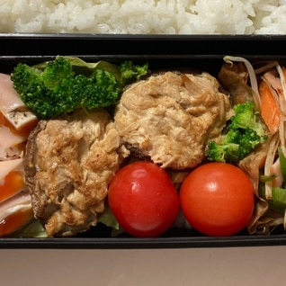お弁当に!マヨ醤油ツナ椎茸