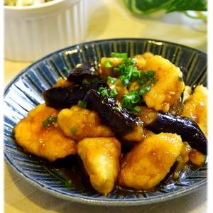 黒酢でさっぱり☆鶏肉と茄子照り焼き