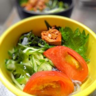 春雨の韓国冷麺風