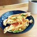 ゆで卵とカニカマの大葉ホットサンド