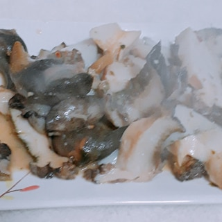 鮑のガーリックバターソテー