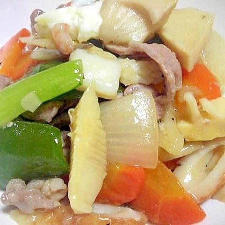 残り野菜とシーフードミックスで簡単中華丼