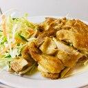 ★今夜の定食-「揚げもも肉のカレー風味」