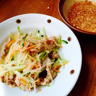 冬瓜と豚小間の胡桃だれサラダ