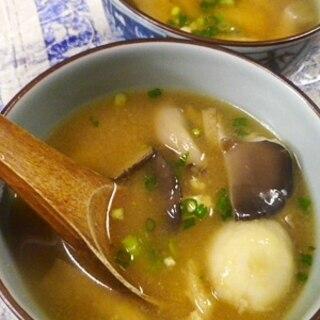 里芋平茸の味噌汁