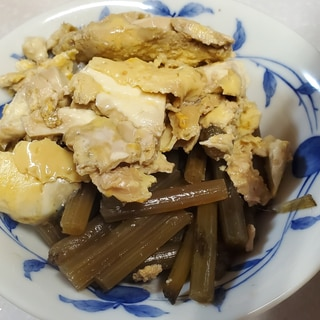 ふきと豆腐の煮物