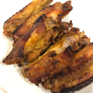 鳥手羽中のオーブン焼き(カレー味)