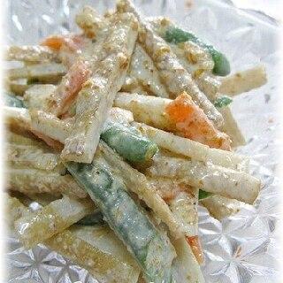 新ごぼうの胡麻マヨサラダ