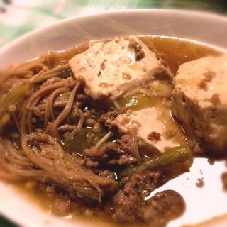 角煮の煮汁をリメイク!肉豆腐!