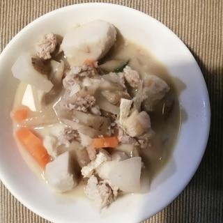 母の日に作る芋豚汁