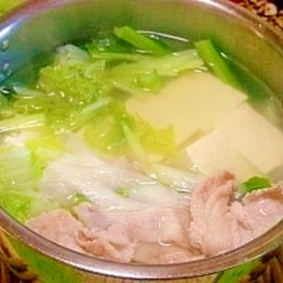 豚肉入り☆湯豆腐