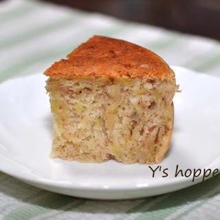ホットケーキミックスで作る豆乳バナナケーキ