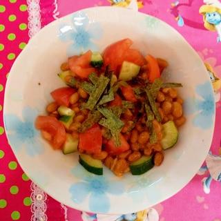 納豆とトマト